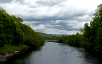 the River Tummel and the road bridge into town