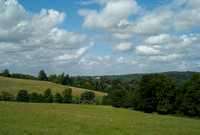 looking towards Mickleham from the fields above Westhumble